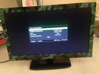 24 in camouflage biard tv with dvd and