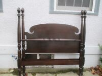 Attractive Antique (c1920) Tall Poster Bed in Great Condition!