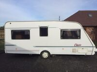For Sale 4 berth Caravan 19ft with full Awning and Electric mover