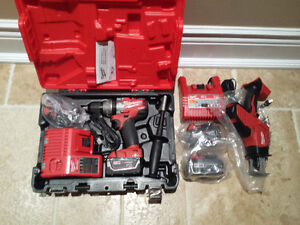 Milwaukee 18 volt cordless drill and saw