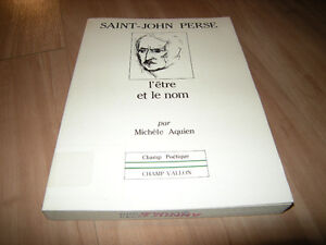 Saint-John Perse : L'être et le nom West Island Greater Montréal image 1
