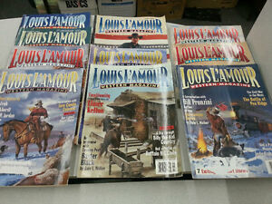 10 Issues of Louis L'Amour Western Magazine
