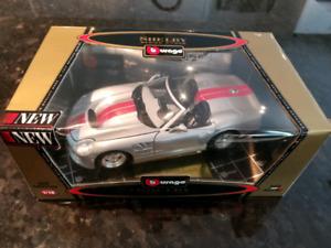 1:18 Diecast Burago 1998 Shelby Series 1 Silver