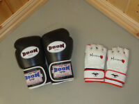 Boon Boxing Gloves and Hayabusa Grappling Gloves