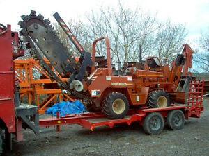 Ditch Witch Trencher/Backhoe and Trailer