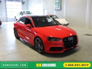 2016 Audi S3 AWD Cuir-Toit pano-Mag-Cam-Navigation