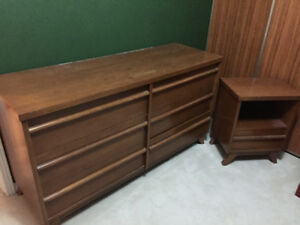 Solid Strong Dresser and Night Table in Great Condition