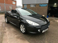 2006 PEUGEOT 307 CC 1.6 S 16v 110 BHP CONVERTIBLE WITH ONLY 64000 MILES.