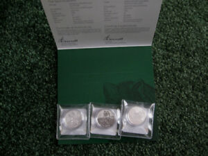 Two Royal Canadian Mint Silver coins sets