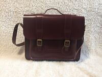 15'' Dr. Martens Cherry Red Leather Satchel