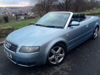 2003 Audi A4 2.5 Tdi sport convertible # full leather # electric roof # s /history