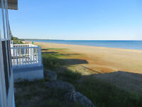 Right on the water!  Beachfront 2 bedroom Sauble Beach Central
