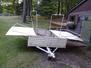 barn find tente roulote 6x6 vintage