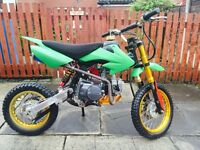 *PITBIKE 125-CC EXCELLENT RUNNER*4 GEARS MANUAL ENGINE*FAST-QUAD PIT BIKE MINI DIRT BIKE MINI MOTO*