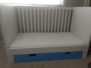 Slightly used Crib and a Toddlers Bed  Two in one Change Table/D