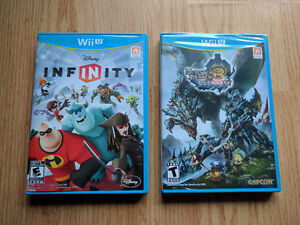 2 jeux Wii U - Infinity + Monster Hunter 3 Ultimate NEUF