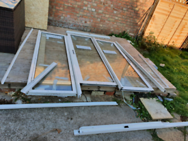 Double Glazed French Sliding Doors UPVC Slide Patio Door side panel