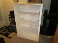Spacious Shelving Unit With Pull Out Drawer