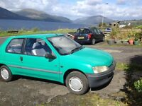 Peugeot 106. Brand new MOT and low mileage