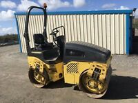BOMAG BW120 RIDE ON DOUBLE DRUM VIBRATING ROLLER