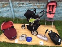 Quinny Buzz 3in1 Complete Travel System in Passion Pink ****