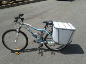 Doublesaddle Box for bicycles