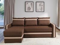 Corner Sofa Bed EUFORIA LUX Dark