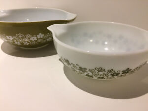 2 BOLS RETRO PYREX VINTAGE BOWLS ANCHOR HOCKING FIRE KING 70'S