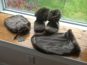 "Slippers -Restoration Hardware ""Luxe Fur"" @ Water Bottle"