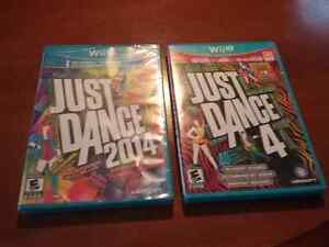 Just dance 2014 neuf et just dance 4 comme neuf