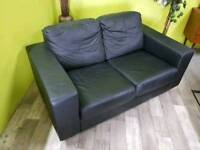 Ikea Faux Leather 2 Seater Sofa - Can Deliver For £19