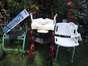 Wheelchair-Walker-Bathroom Aids-Brand New And Excellent Used Con