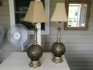 2 antique lamps