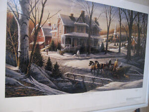 HOMEWARD BOUND BY TERRY REDLIN, UNFRAMED PRINT - $125