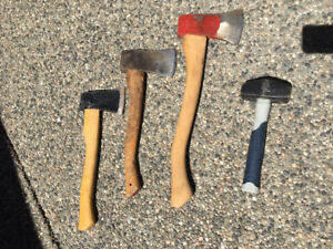 Axes and 3lb Hammer For Sale