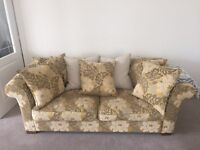 Custom made 3 seater fabric sofa