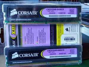 CORSAIR XMS2 Memory PC2 6400 800 Dual Channel Non-ECC DDR2 West Island Greater Montréal image 2
