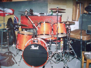 Pearl Export acoustic kit and Yamaha DTXtreme electronic drums
