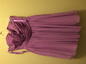 Lilac size 4 bridesmaid/prom dress above knee