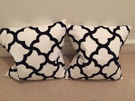 Brand new White and black cushions