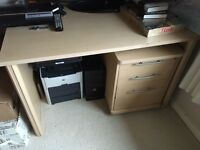 Computer desk & leather chair *Price Halved*