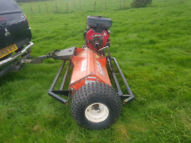 Quad atv logic mfg320 flail grass topper mower tractor for sale  Motherwell, North Lanarkshire