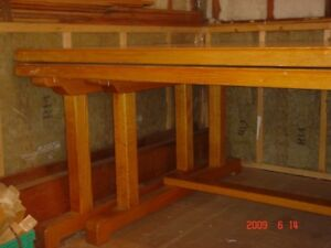 solid oak tables for sale. made in federal prison.