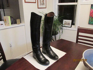 Tall black leather riding boots by Vogel