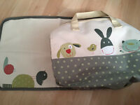Brand new nappy bag with changing mat