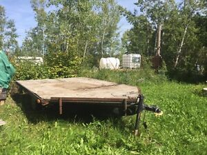 Flat deck Utility Trailer and loading ramps