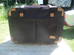 "Excellent Condition: Black Luggable Luggage, 26W x 19""H x 8""D"