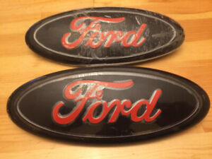 Ford Emblem Oval Red and Black 9""