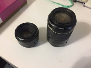 Selling Canon lens EF 50mm & Cannon Ultrasonic Zoom EF 55-200mm