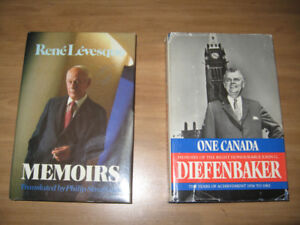 POLITICAL CANADIAN BOOKS - LOT OF 2
